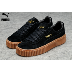 ce91ee3a2ef Men s Women s Fenty Puma by Rihanna Suede Creepers Shoes Black Brown ...