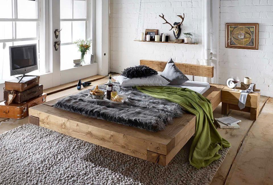 balkenbett brus in fichte vintage favorit betten pinterest fichten vintage und bauideen. Black Bedroom Furniture Sets. Home Design Ideas