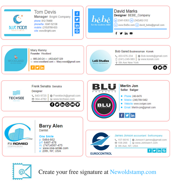 Professional And Beautiful Email Signatures  Business Email