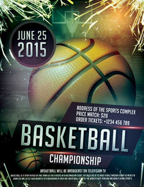 Free Basketball Boxing Sports Flyer Template -    freepsdflyer - free sports flyer templates