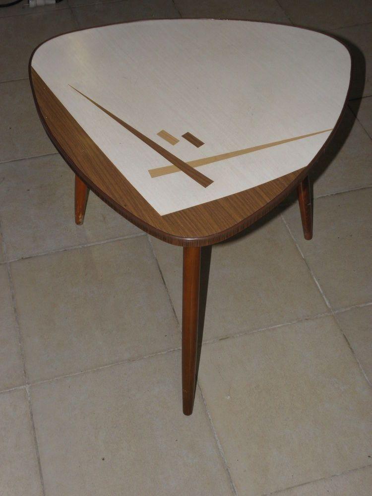 Table Basse Formica Scandinave Moderniste Vintage Dreibein Tripod