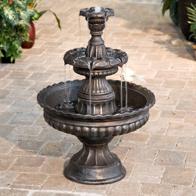 Garden Classic 3-Tier Outdoor Fountain - Fountains at Hayneedle