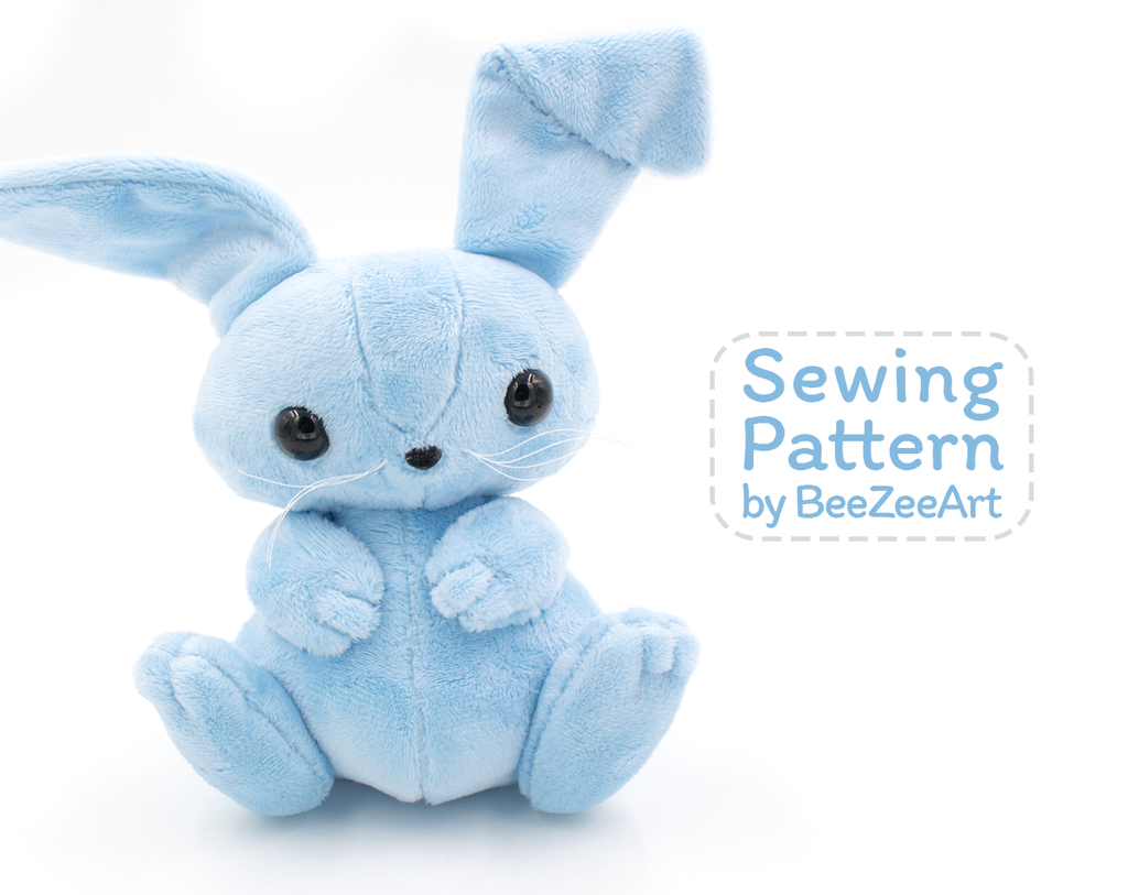 Bunny Plush Sewing Pattern, Stuffed Animal Pattern, PDF File ...