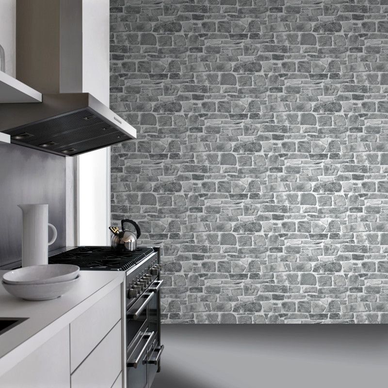 Rasch Stone Effect Grey Wallpaper Is Specially Designed To Add A