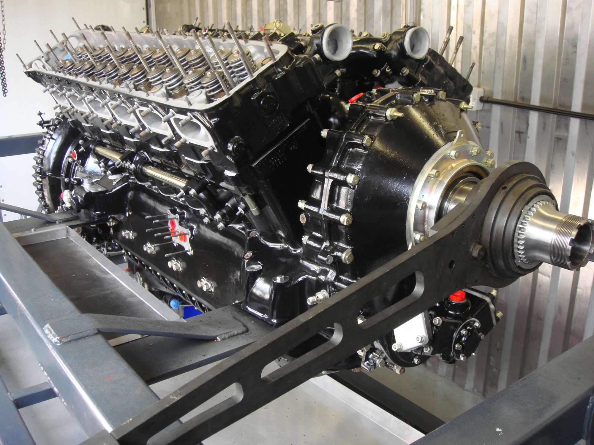 The rolls royce merlin 27 litre supercharged v12 this for Aircraft motors for sale