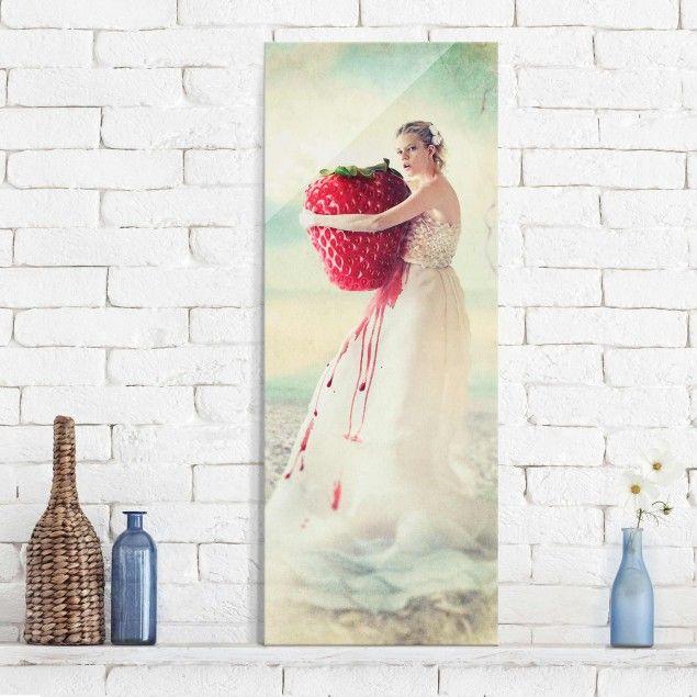 Glasbild - Strawberryprincess - #Panorama Hoch #Glasbilder #Glasbild - glasbilder für küche