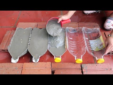 How To Make Cement Pots Easily From Plastic Bottles At Home For You