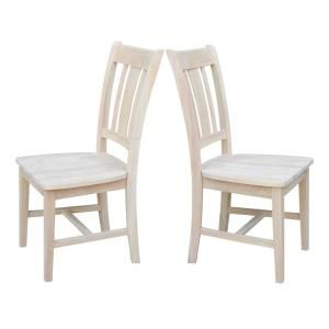 International Concepts San Remo Unfinished Wood Slat Back Dining Chair Set Of 2 C 10p Unfinished Wood Furniture Dining Chairs White Dining Chairs