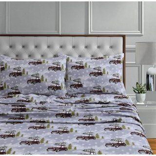 170 Gsm Soft Flannel Extra Deep Pocket Sheet Set With Oversized Flat Cal King Winter Wonderland Beige Tribeca Living King Pillows King Sheet Sets Twin Sheet Sets