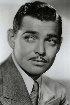 Clark Gable and his pencil moustache | Clark gable, Actors, Classic  hollywood