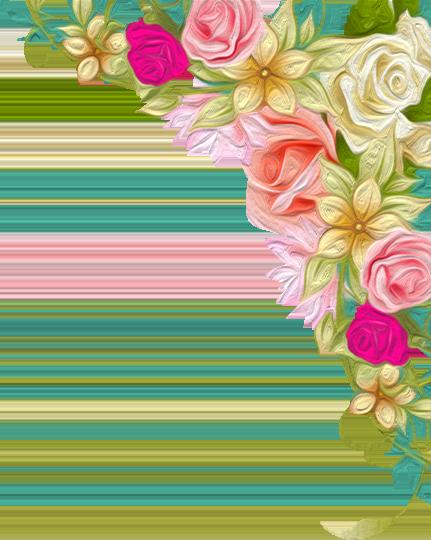 Cart Arabella And Rose Floral, Floral border, Wedding girl