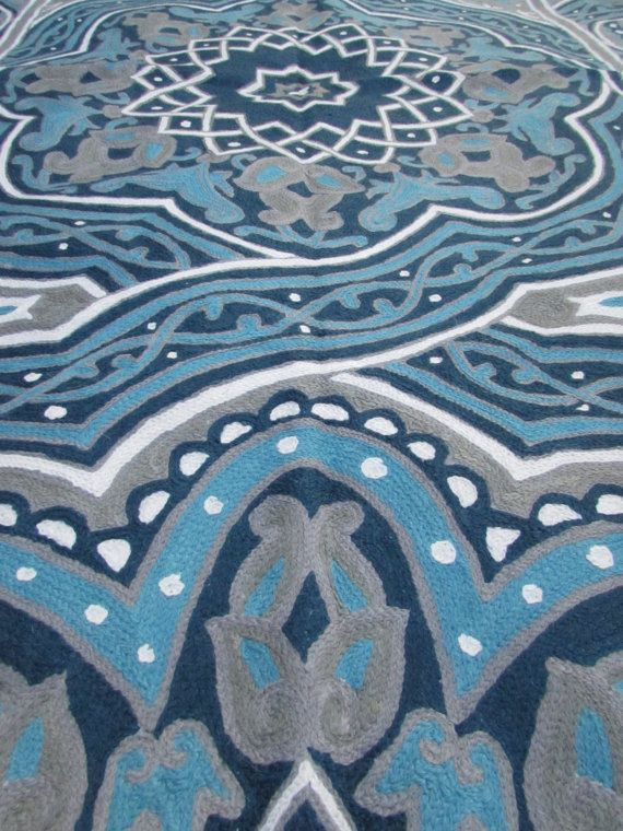 Beautiful Mandala Rug Strong Turquoise Area As Well Royal Blue Great 4x6