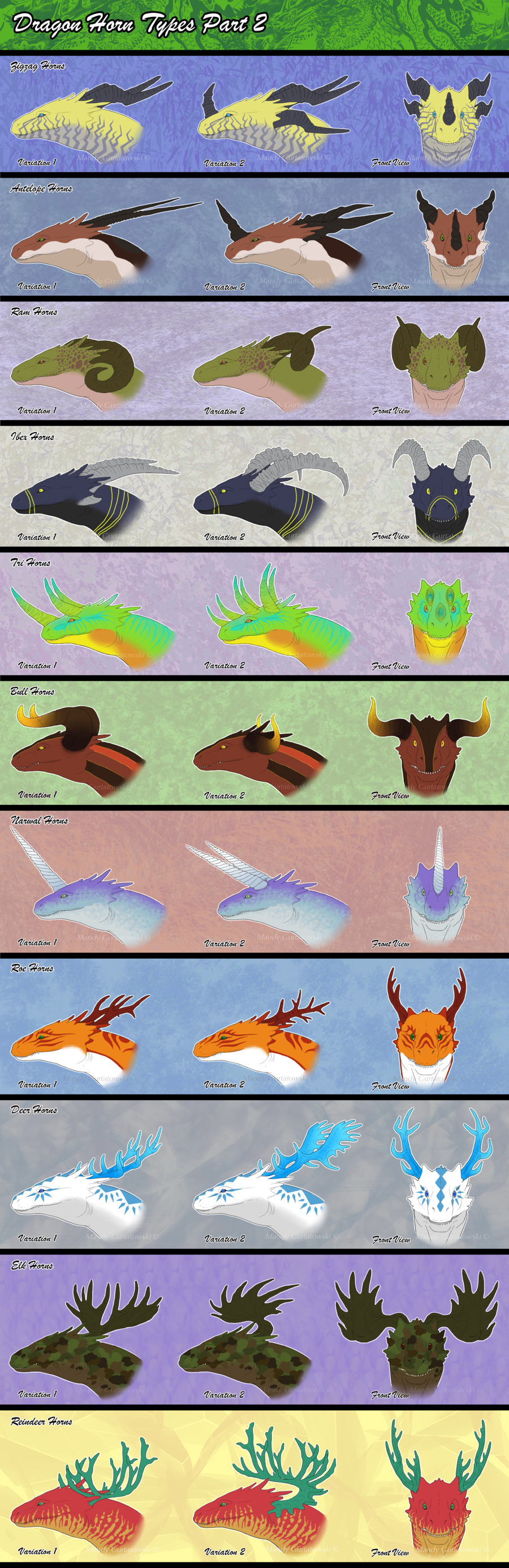 Dragon Horn Types Part 2 By Araless