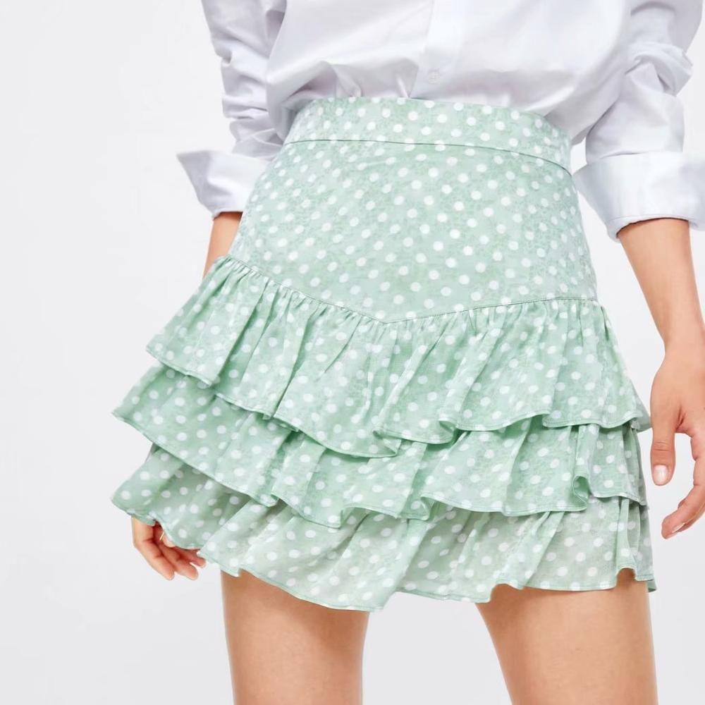 Ladies Chiffon Skirts Women Plaid Slim 2019 Korean Fashion Sashes Above Knee Mini Skirts Empire Shorts Skirts Summer New
