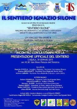 """""""Il Sentiero Ignazio Silone"""": il 30 gennaio la presentazione dell'iniziativa - Arte & Cultura"""