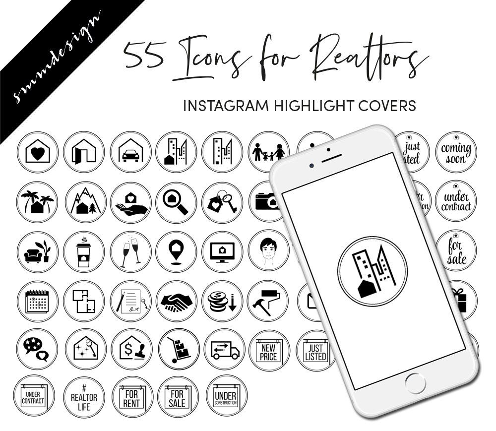 real estate instagram story highlight icons, real