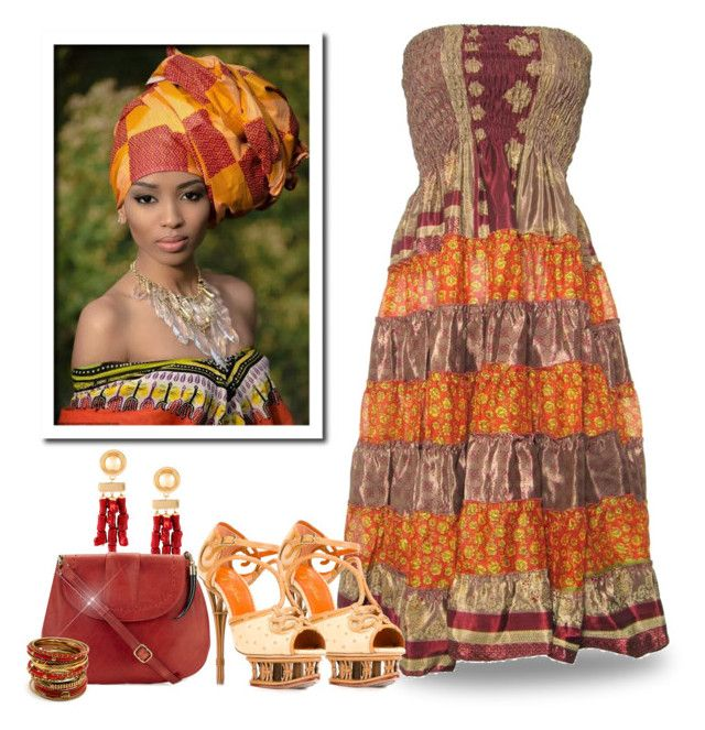 """African Inspired 3"" by majezy ❤ liked on Polyvore featuring Gringo, Balmain, Okapi, Charlotte Olympia and Amrita Singh"