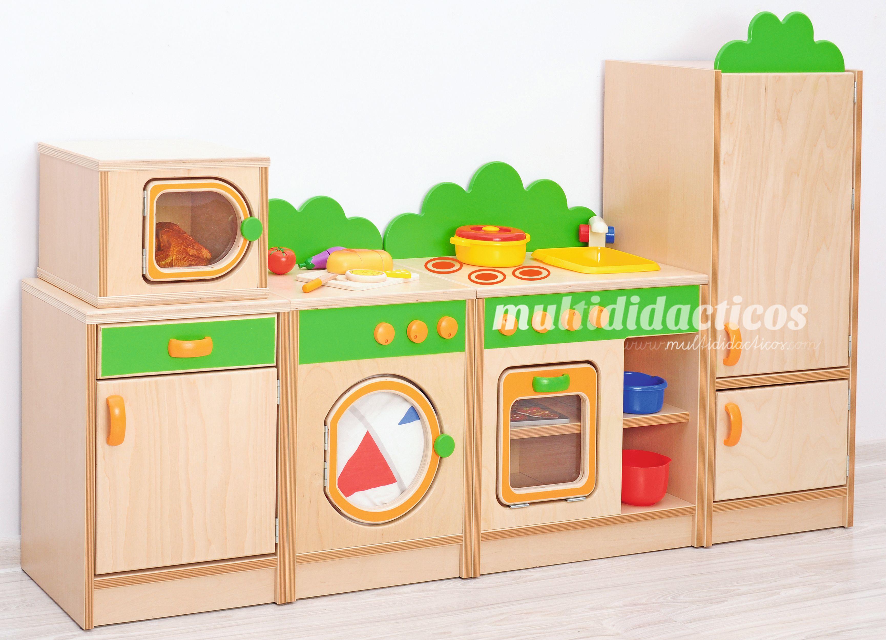 Mueble cocina fabricado en madera para ni os mobiliario for Cocina infantil madera
