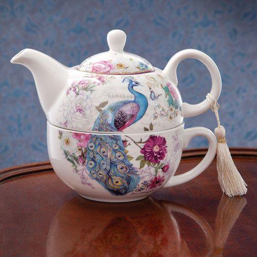 Peacock Tea for One Set