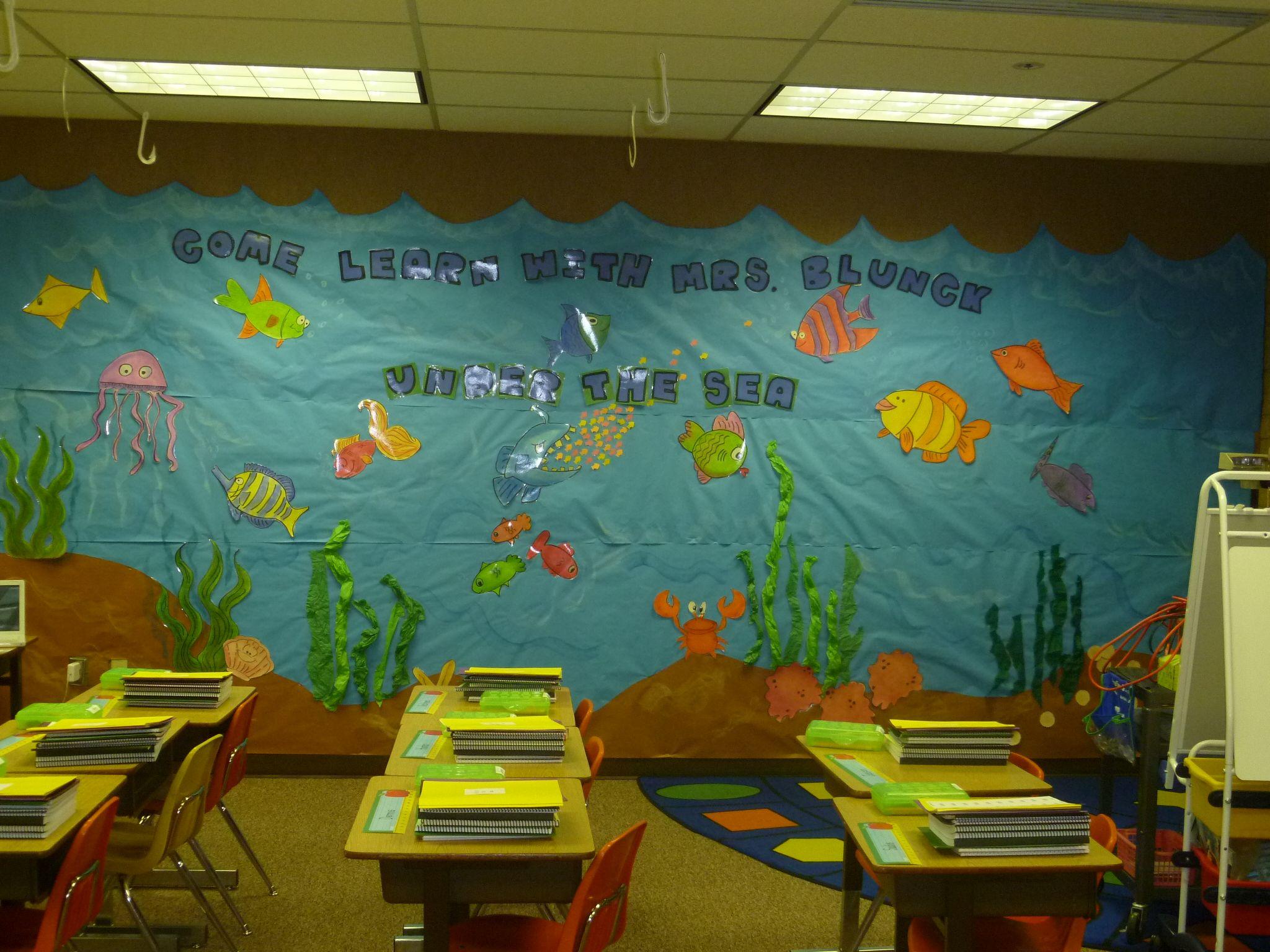 Under The Sea Theme Under The Sea Theme Ocean Theme Classroom Sea Theme