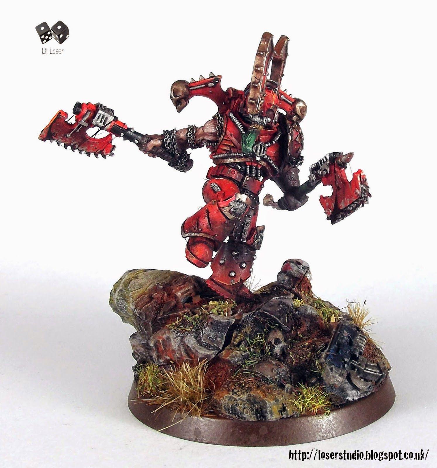 Lillegend Studio Kharn The Betrayer Heresy Miniature Conversion Miniatures Warhammer 40k Miniatures Warhammer Figures