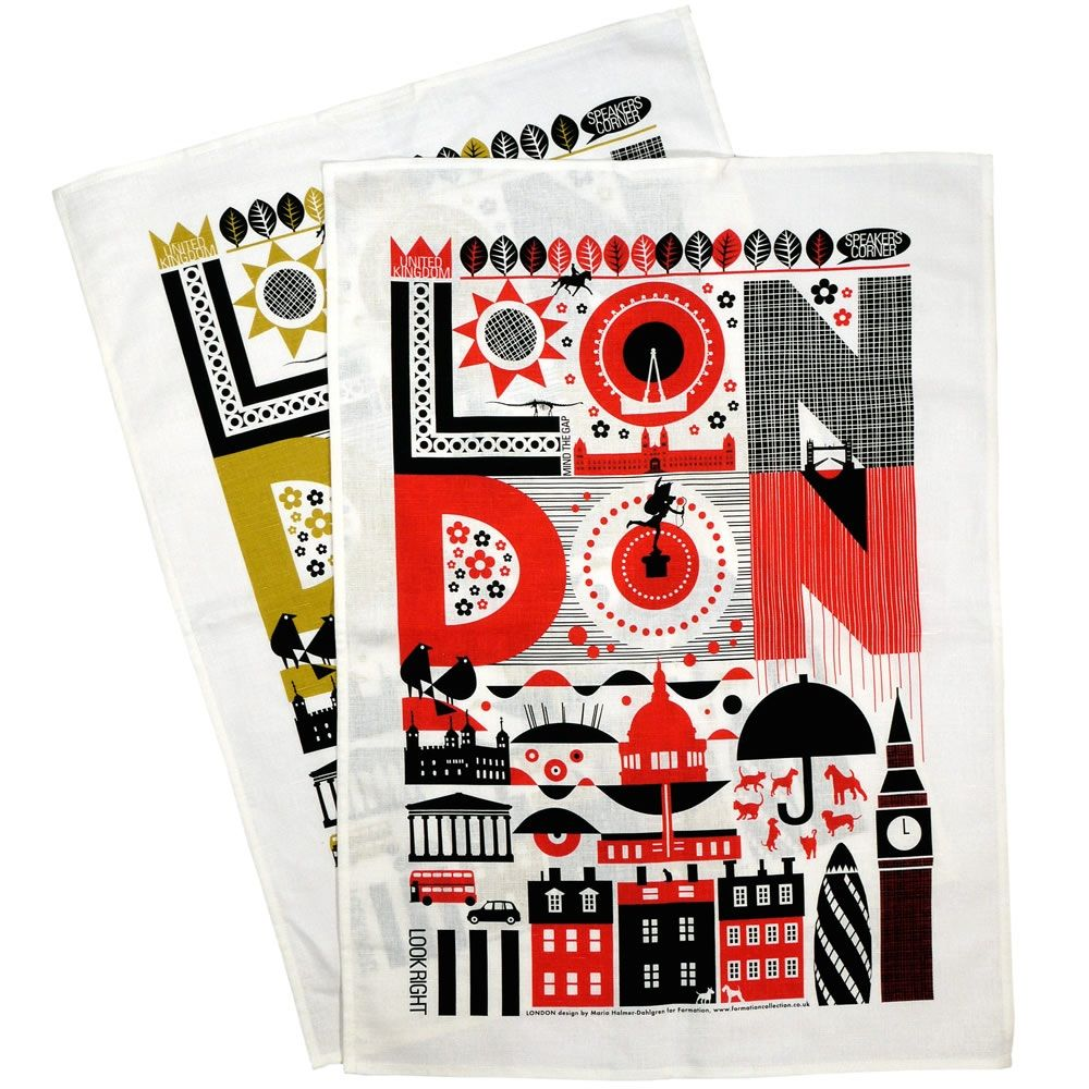 London Tea Towel London tea, London transport museum, London