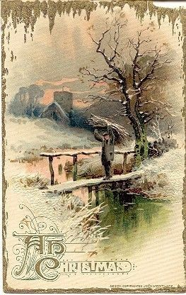 """ Christmas Greetings To You "" Vintage 1912 Winsch Post Card. Published by John Winsch with an embossed surface, DB-USD-PM 1912. A small chip at the top right corner of the Gold Border, and in Excellent condition in all other ways. Karodens Vintage Post Cards at www.bonanza.com/booths/karoden"