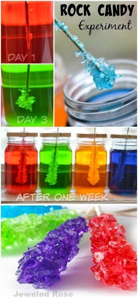 Craft Project Ideas Rock Candy Experiment Kids Activities