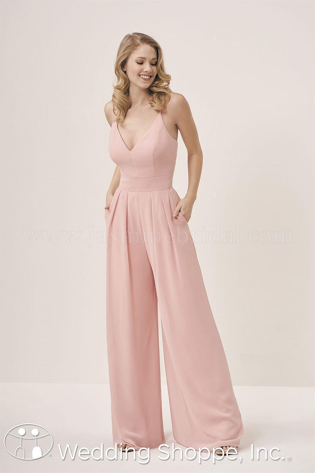 Jasmine Wide Leg P196053 Bridesmaid Dress Jumpsuit