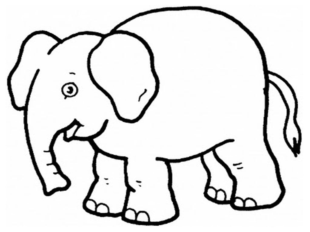 easy zoo animal coloring pages coloring page - Easy Animal Coloring Pages