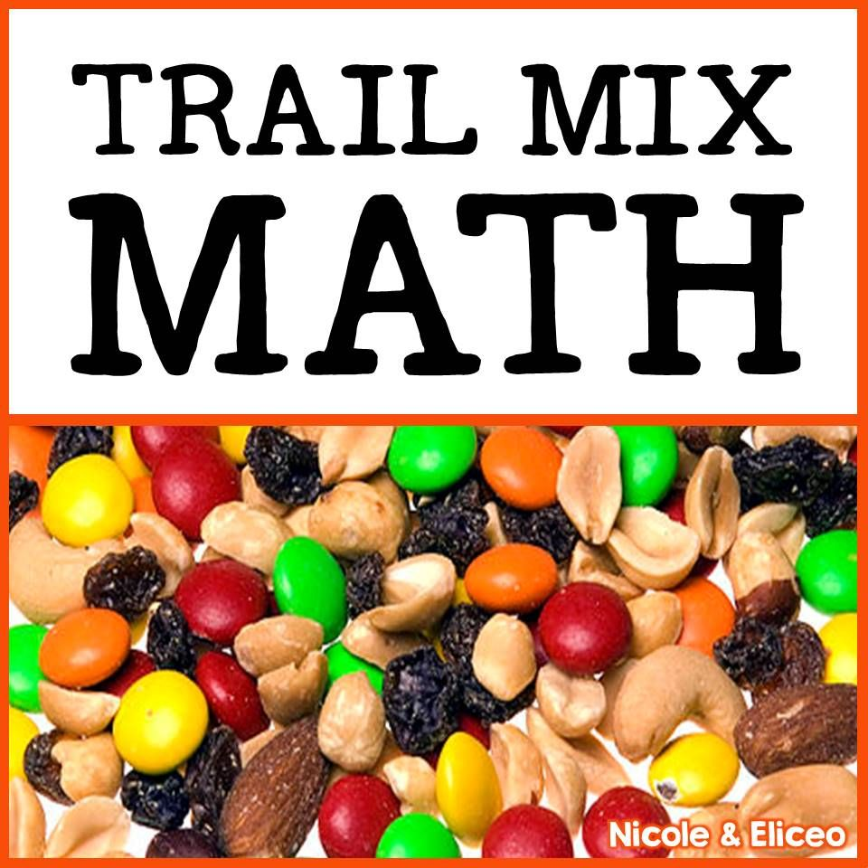 fun ideas for using trail mix to teach basic math skills like