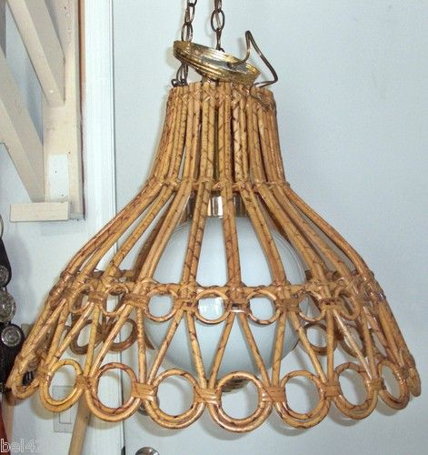 Mid century rattan wicker bamboo chandelier light franco albini mid century rattan wicker bamboo chandelier light franco albini ebay aloadofball Image collections