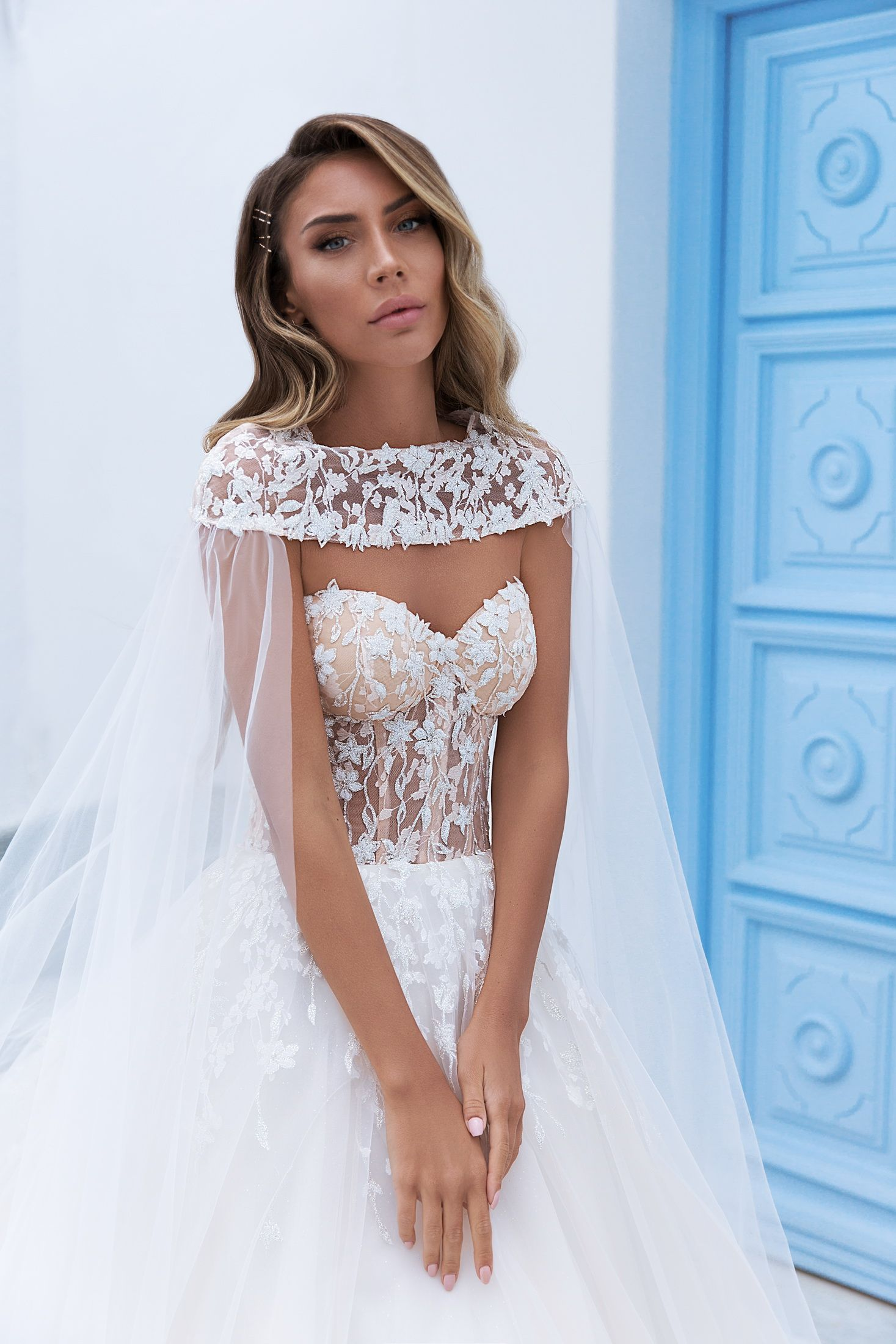 ELLY   Wedding Dress With Special Cape   Style 012