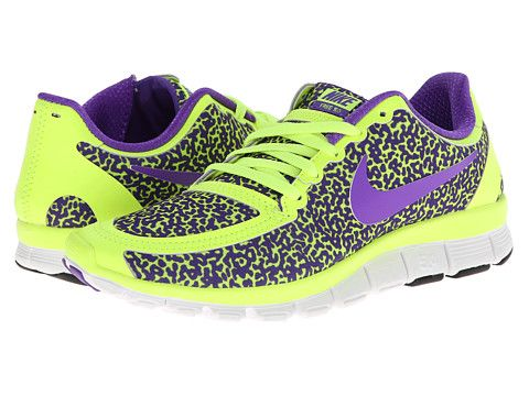 Free 5 0 v4 volt hyper green hyper grape, Nike, White, Women