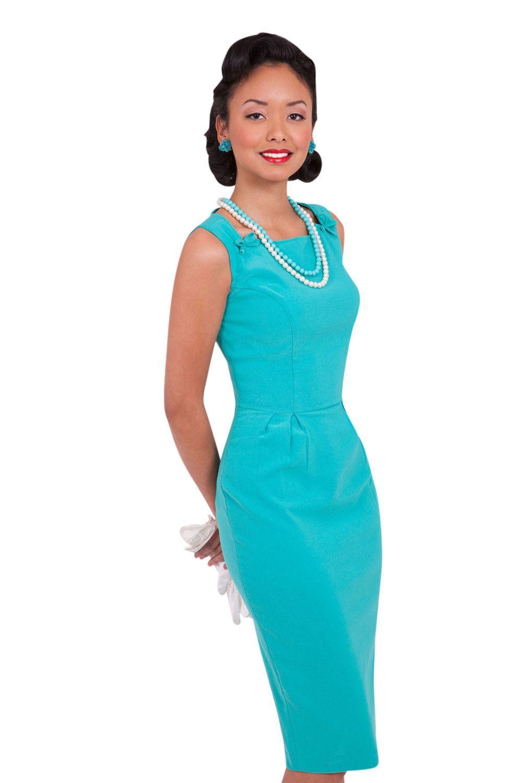 60 S Vintage Office Lady Glamorous Turquoise Blue Pencil Dress Blue Pencil Dress Pencil Dress Fitted Pencil Dress [ 1500 x 1000 Pixel ]