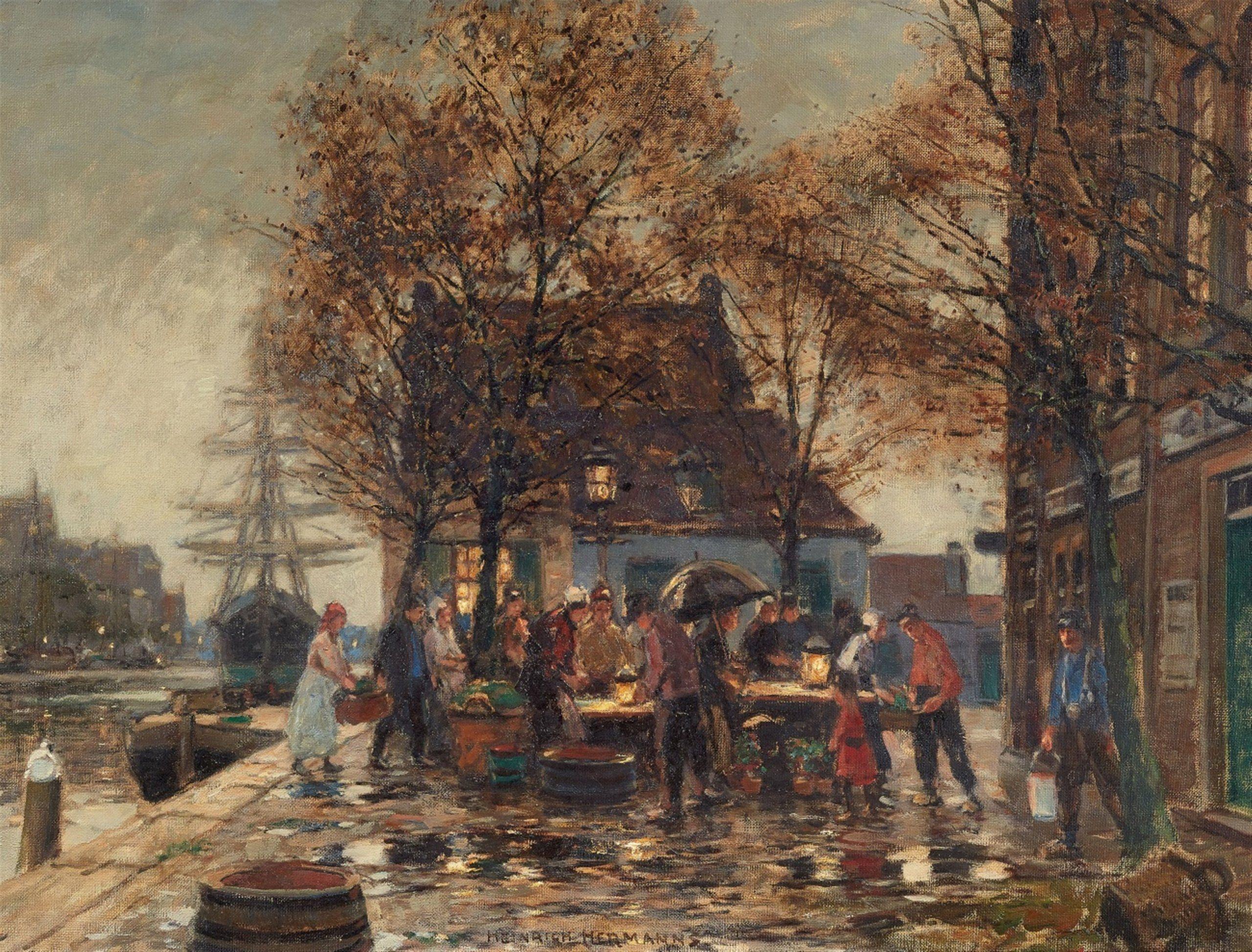 Heinrich Hermanns Am Marktstand Auktion 1074 Gemälde 15 19 Jh Lot 155 Gemälde Bilder Auktion