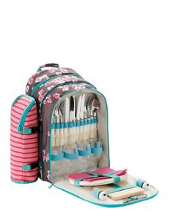 Easy to carry four person picnic backpack to all those beautiful remote picnic sites!