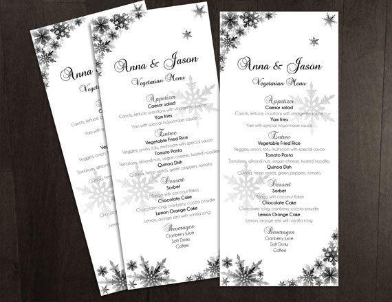 diy printable wedding menu template editable ms word file 4 x