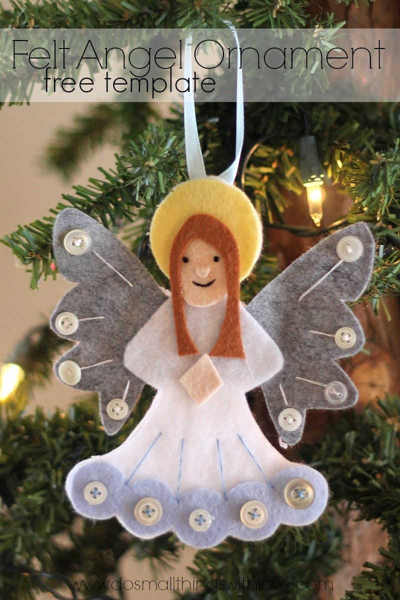 Felt Angel Ornament Free Template Catholic Sprouts Felt Ornaments Felt Angel Christmas Angels