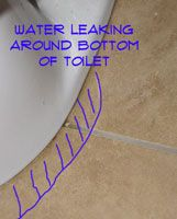 Water Seeping Out a Toilet Base