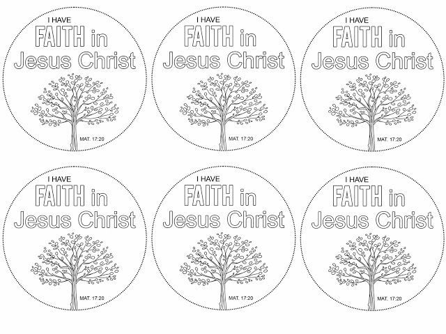 LDS Primary Printables: I have Faith in Jesus Christ