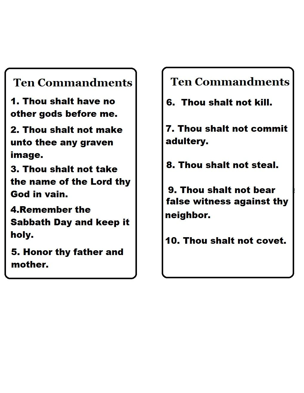 Worksheets Ten Commandments Worksheets ten commandments template print cut out and glue to a stiff board in shape