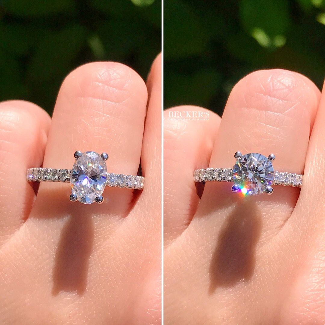The Most Popular Diamond Shapes Of 2018 Were Oval And Round Although Round Diamonds Always Remain In 1st Popular Engagement Rings Engagement Rings Rings
