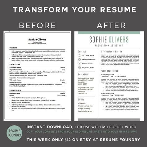 Stylish Resume Template - the Sophie Cv template, Cover letter