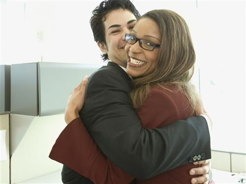 Is it ok to hug in the workplace? What do you think?