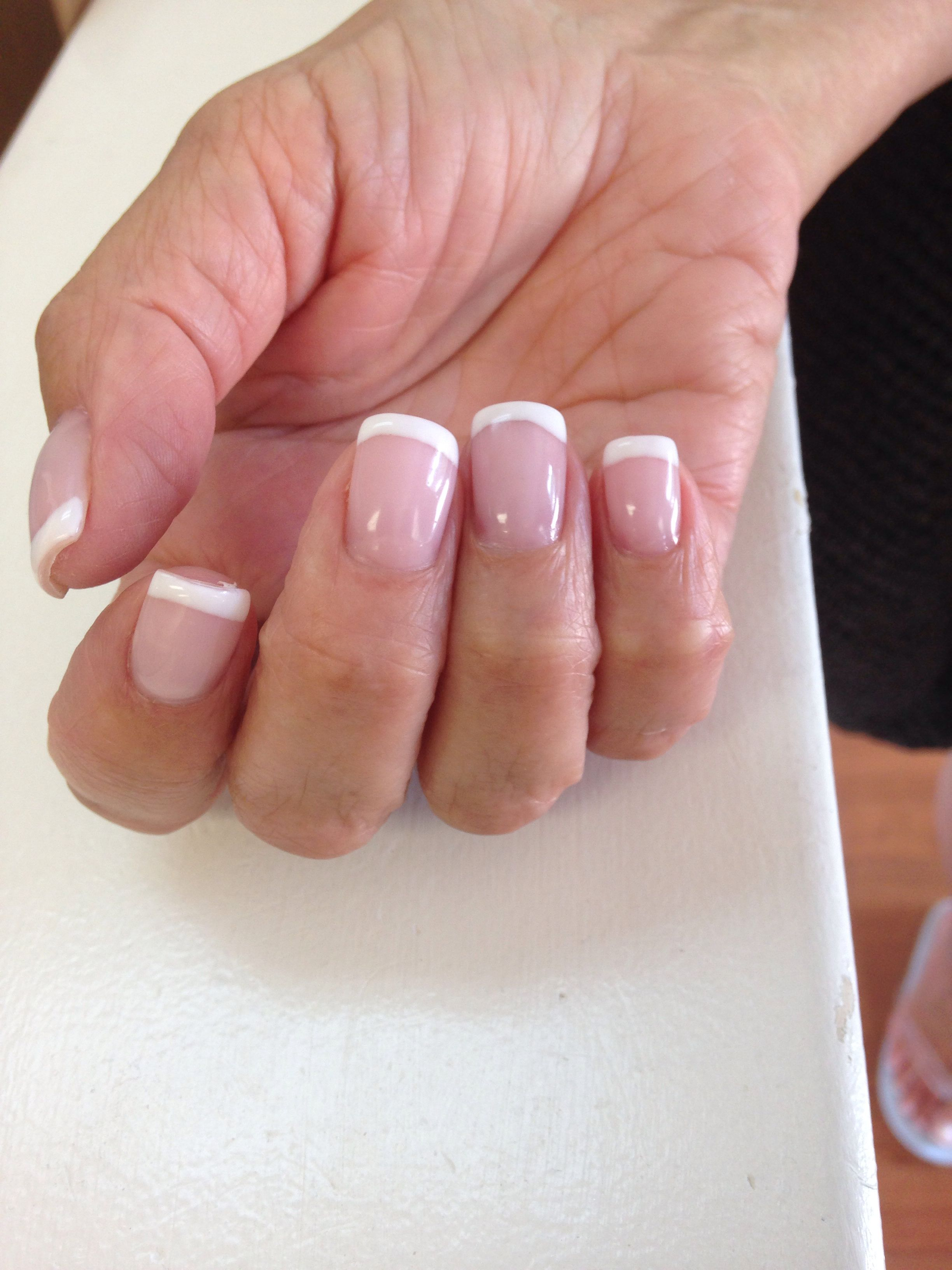 Hard Gel Full Set With French Mani These Nails Were Done By Me Full Set Gel Nails Gel Nails French Nails