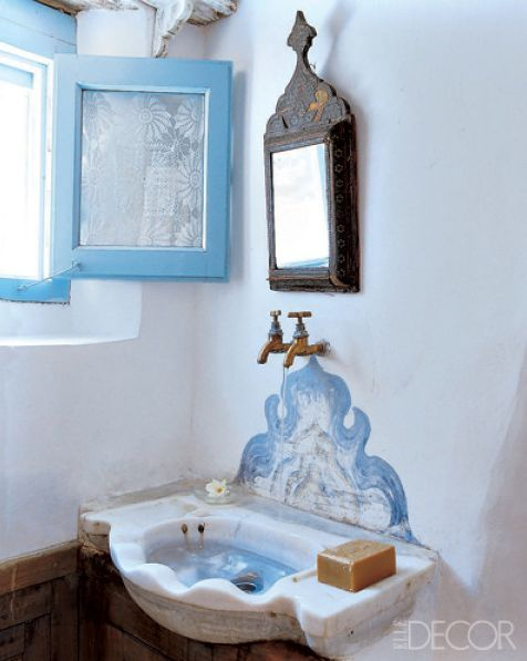 Greece Travel Inspiration Artist Holly Lueders Bathroom In Greek Island Patmos Summer House Designed By Herself