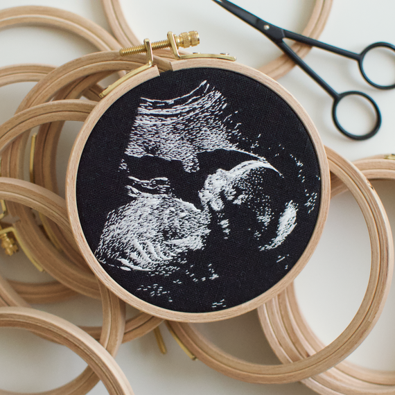 This Mom Embroiders the Most Precious Keepsakes From Ultrasound Pictures