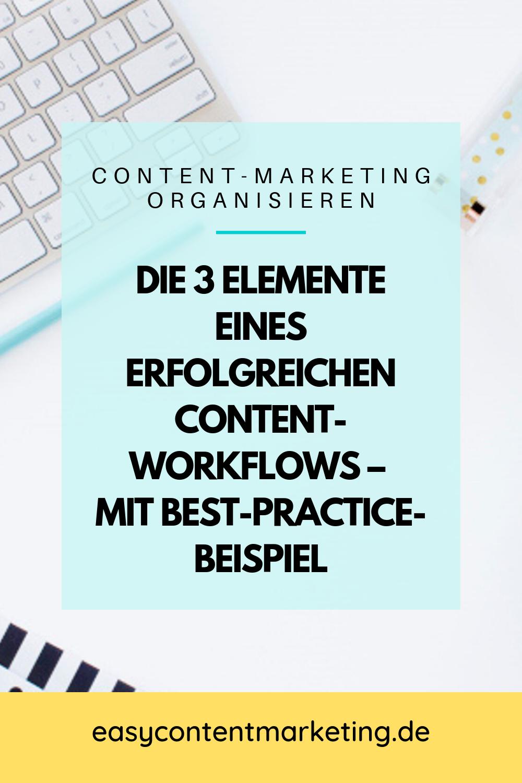 Die 3 Elemente Eines Erfolgreichen Content Workflows Content Marketing Online Marketing Strategie Marketing
