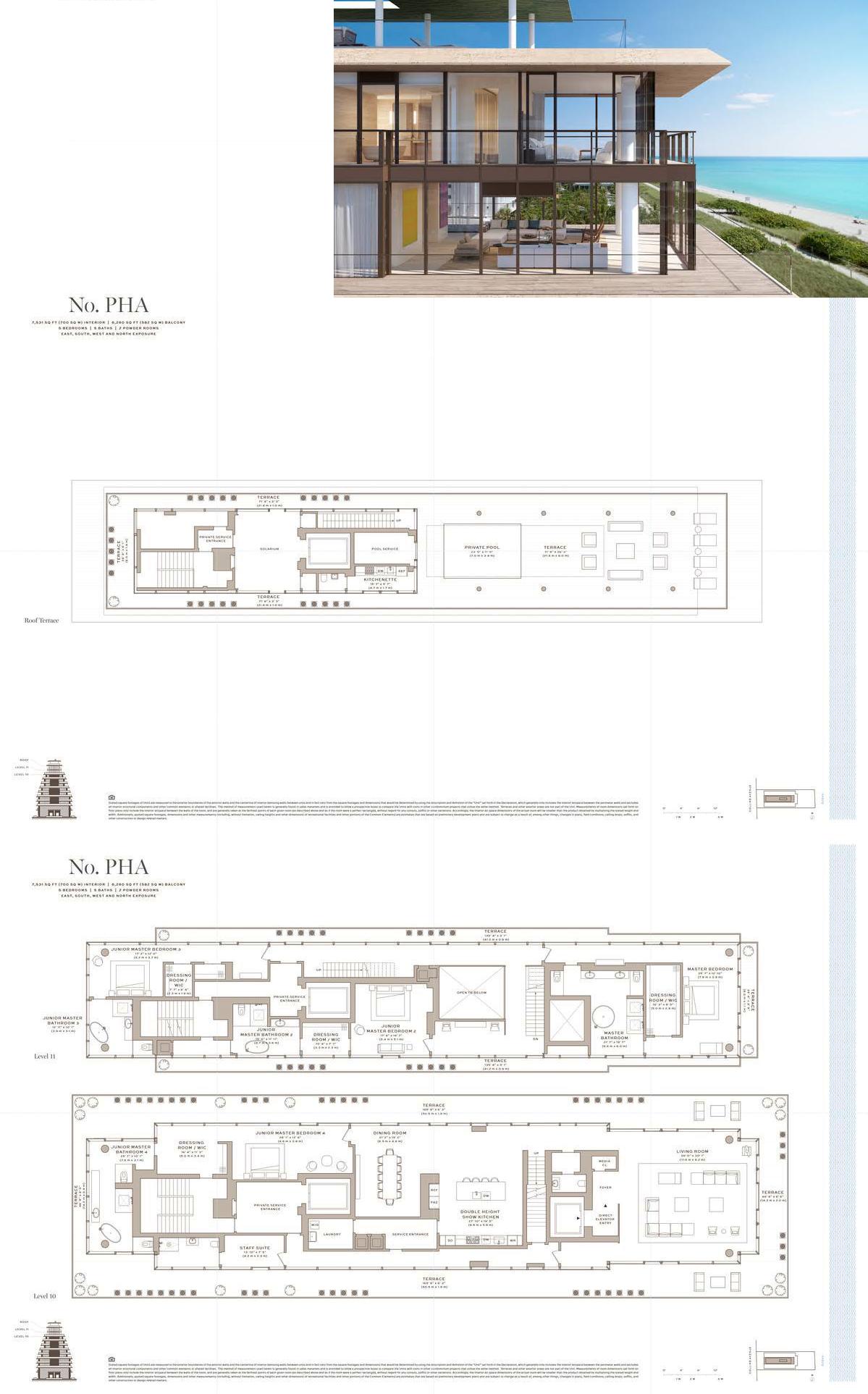 Arte Surfside Fl Penthouse A Floor Plans City Living Apartment Apartment Plans